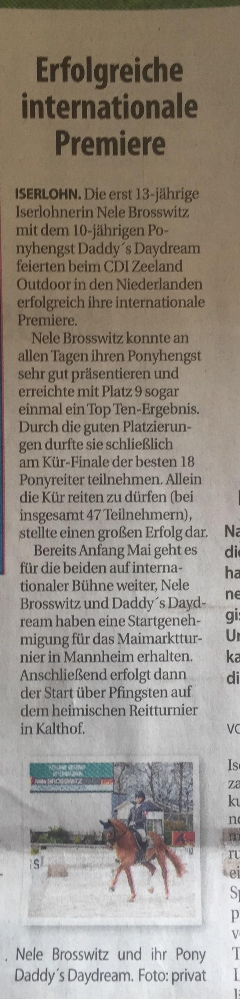 Bericht Stadtspiegel 19.04.2017 CDI Zeeland Outdoor