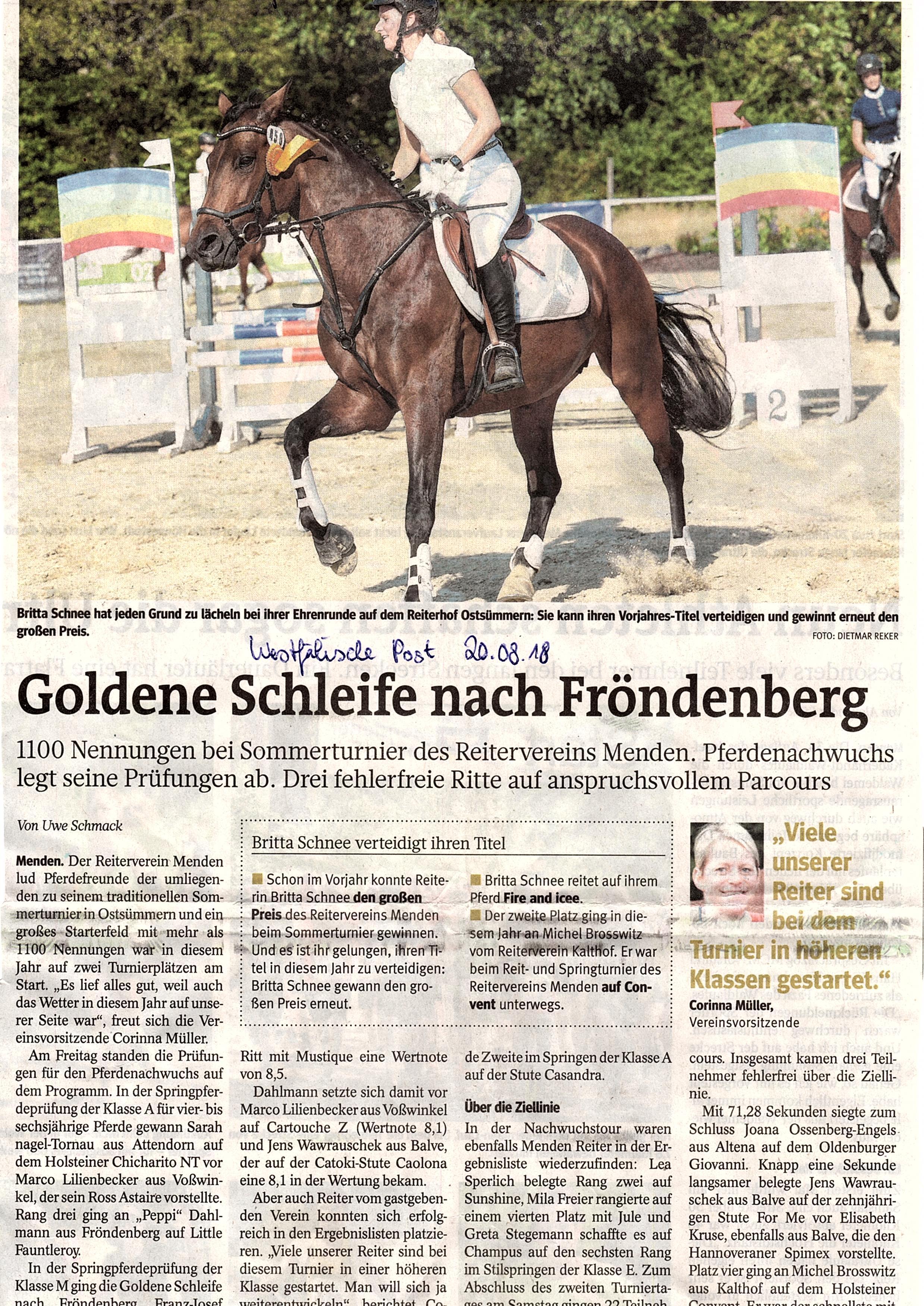 WP 20.08.2018 Turnier Menden Teil 2