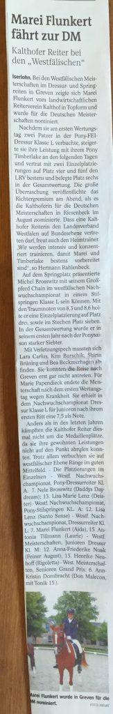 Zeitungsbericht IKZ 28.07.2016
